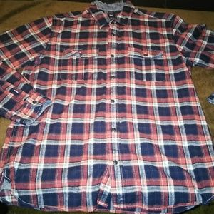 Red,white,blue plaid mans  Gap shirt